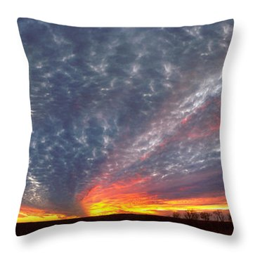 Throw Pillow featuring the photograph November Magic by Rod Seel