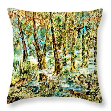 November Morn Throw Pillow