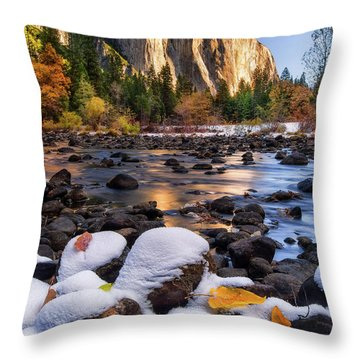 November Morning Throw Pillow by Anthony Michael Bonafede