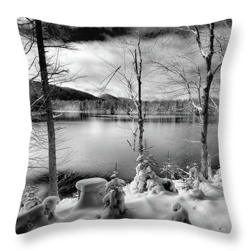 November On West Lake Throw Pillow by David Patterson
