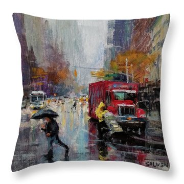 November Rain Throw Pillow by Peter Salwen