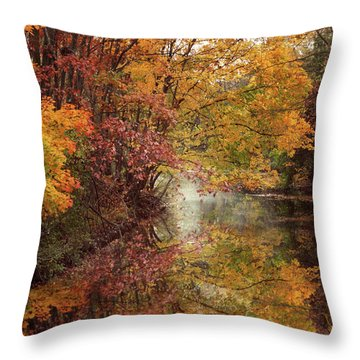 Throw Pillow featuring the photograph November Reflections by Jessica Jenney