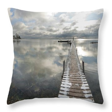 November Skies Throw Pillow by Robert Lacy