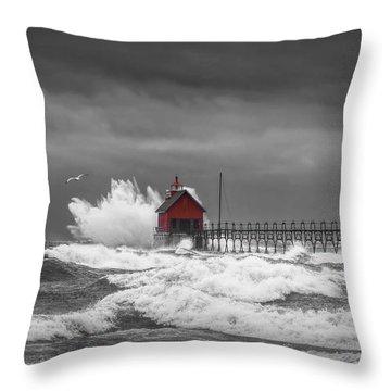 Great Lakes Region Throw Pillows
