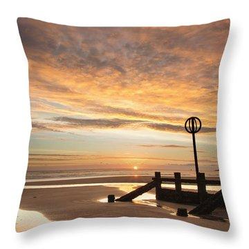 November Sunrise Throw Pillow