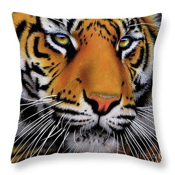 November Tiger Throw Pillow