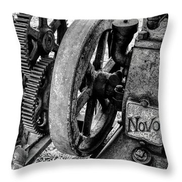 Novo Antique Gas Engine Throw Pillow