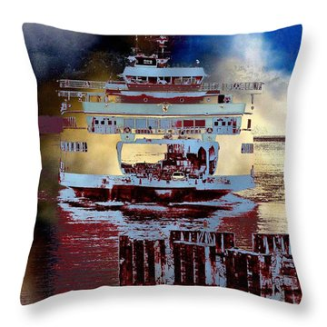 Now Arriving Throw Pillow by Tim Allen