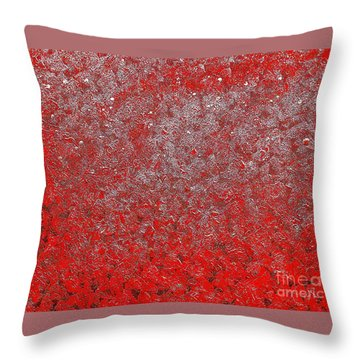 Now It's Red Throw Pillow by Rachel Hannah