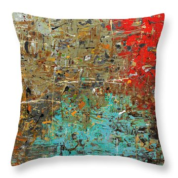 Throw Pillow featuring the painting Now Or Never by Carmen Guedez