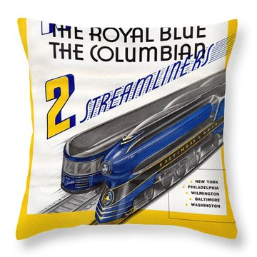 Now The Royal Blue The Columbian Throw Pillow