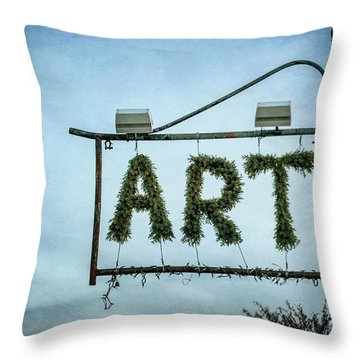Now This Is Art Throw Pillow