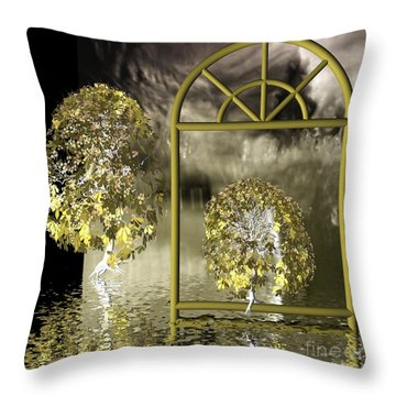 Nowhere-land Throw Pillow