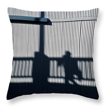 Throw Pillow featuring the photograph Nowhere Man by Tom Vaughan
