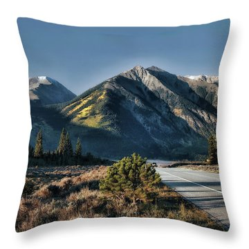 Nowhere To Go But Everywhere Throw Pillow