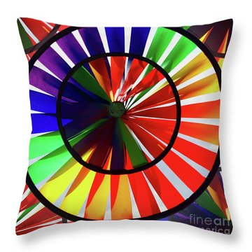 Throw Pillow featuring the photograph noWind wheel by Luc Van de Steeg