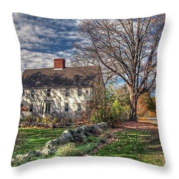 Noyes House In Autumn Throw Pillow