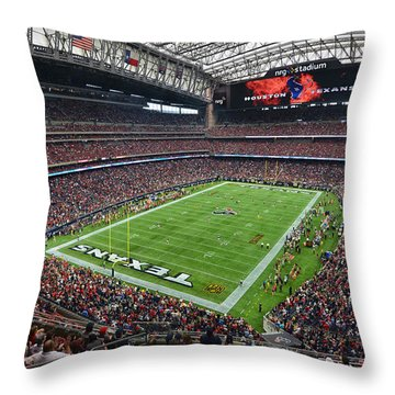 Nrg Stadium - Houston Texans  Throw Pillow