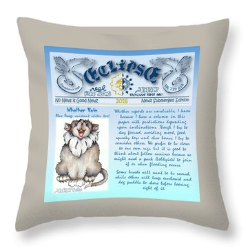 Real Fake News Blue Dawg Excerpt Throw Pillow