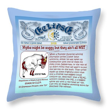 Real Fake News By Esp Throw Pillow