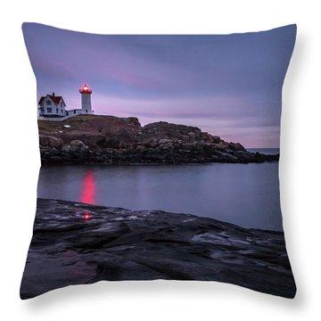 Nubble Light Blue Hour Throw Pillow