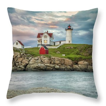Nubble Light Throw Pillow by Brian Caldwell