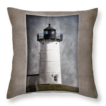 Nubble Light Maine Throw Pillow