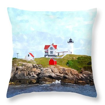 Nubble Light Nlwc Throw Pillow by Jim Brage