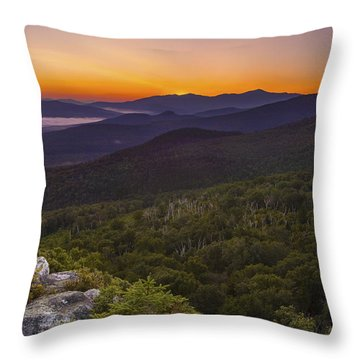 Nubble Sunrise Throw Pillow