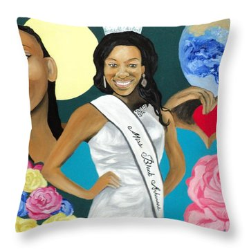 Nubian Princess Throw Pillow