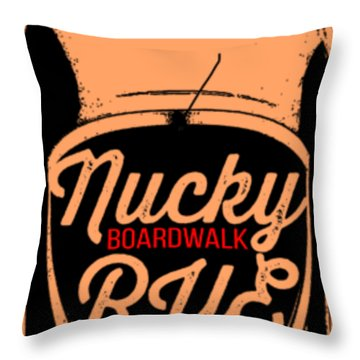 Nucky Thompson Boardwalk Rye Whiskey Tee Throw Pillow