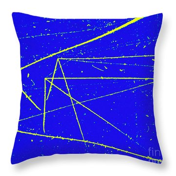Nuclear Particle Tracks Throw Pillow by Omikron