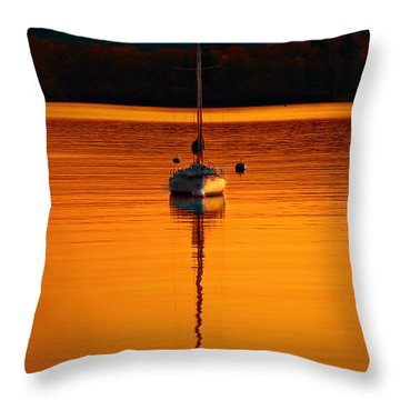 Nuclear Sunset Throw Pillow