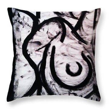 Nude 002 Throw Pillow by M Art Morris Hofmann