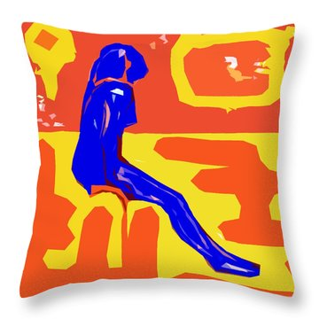 Nude 16 Throw Pillow by Patrick J Murphy
