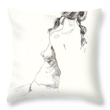 Nude 9 Throw Pillow