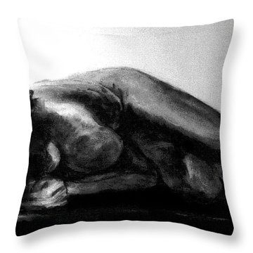 Nude As Landscape Throw Pillow