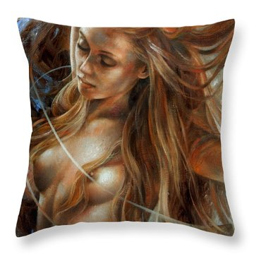 Nude Dinamik2 Throw Pillow by Arthur Braginsky