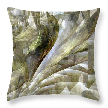 Throw Pillow featuring the photograph Drunk Nude Falling Down A Staircase by Robert G Kernodle