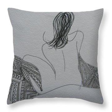 Nude II Throw Pillow