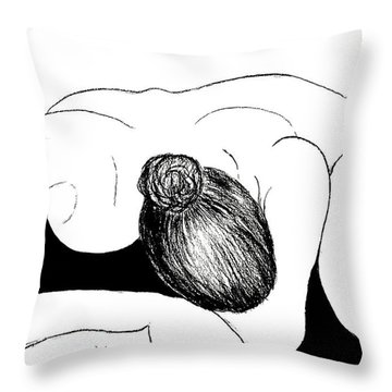 Nude In Supplication Throw Pillow