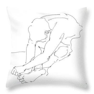 Nude Male Drawings 8 Throw Pillow