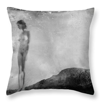 Nude On The Fence, Galisteo Throw Pillow