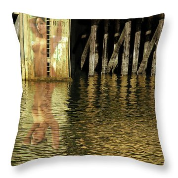 Nude Reflection Throw Pillow by Harry Spitz