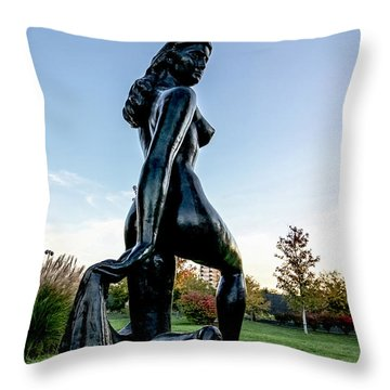 Nude Statue Throw Pillow