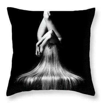 Nude Woman Bodyscape Throw Pillow