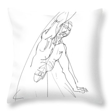 Nude_male_drawing_25 Throw Pillow