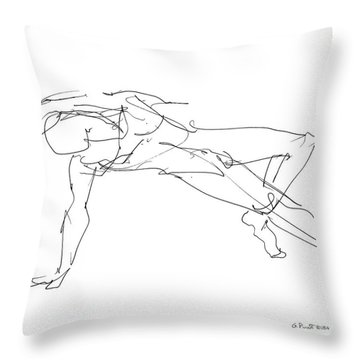 Nude_male_drawings_23 Throw Pillow