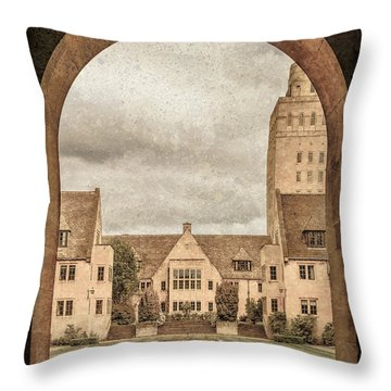 Oxford, England - Nuffield College Throw Pillow