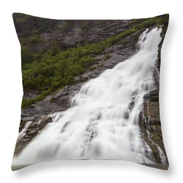 Throw Pillow featuring the photograph Nugget Falls, Alaska by Ed Clark